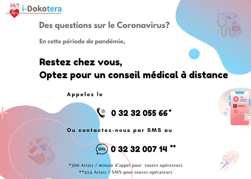 Des questions sur le coronavirus? Restez chez vous, optez pour un conseil médical à distance
